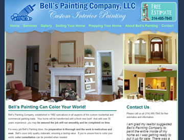 Bells Painting Company website by Spencer Web Design
