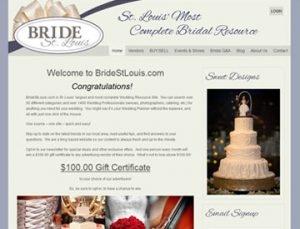 Bride St. Louis website by Spencer Web Design