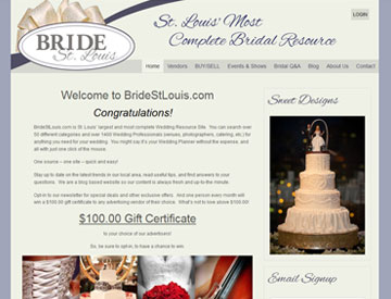 Bride St. Louis website by Spencer Web Design
