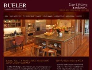 Buerler Remodeling website by Spencer Web Design