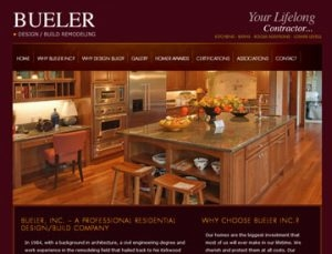 Buerler Remodeling website by Spencer Web Design