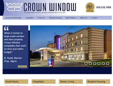 Crown Window Website by Spencer Web Design