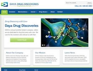 Daya Drug Discoveries Website by Spencer Web Design