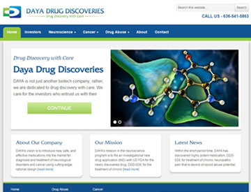Daya Drug Discoveries Website by Spencer Web Design