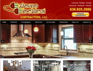 Extreme Electrical Website by Spencer Web Design