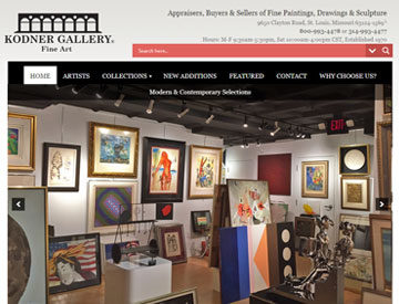 Kodner Gallery Website Designed by Spencer Web Design, Inc.