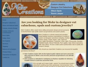 Mohr Creations eCommerce site by Spencer Web Design, Inc.