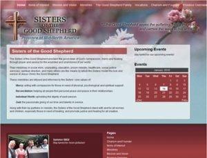 Sisters of the Good Shepherd Website by Spencer Web Design, Inc.