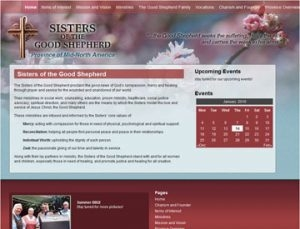 Sisters of the Good Shepherd Website by Spencer Web Design, Inc.