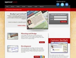 Spencer Web Design website
