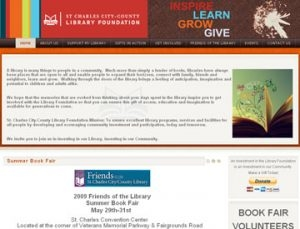 St. Charles City County Library Foundation Website