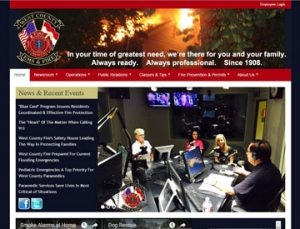 West County EMS and Fire Website by Spencer Web Design