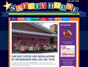Safety House Website by Spencer Web Design, Inc.