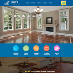 Bell's Painting Company 2018 website