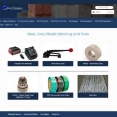 Grant Packaging eCommerce website by Spencer Web Design