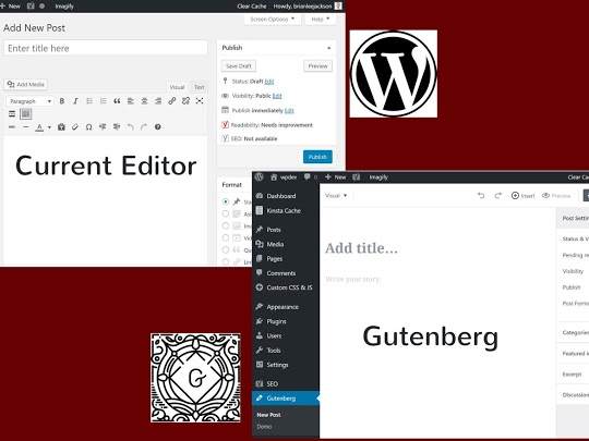 Old and new WordPress Editors